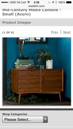 West Elm/Sherwin Williams -color: Blue Nile (love)