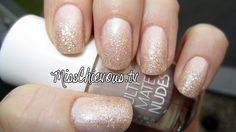 Nude sparkle nails