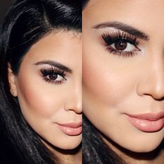 "Kardashianinpink look: Face: Mac prep Prime Skin Base Mac bronzing powder ""Refined golden"" Cheeks: Mac Blush ""harmony and style, Mac mineralize skinfinish cheeky bronze Eyes: Twins, brûlé, dazzlelight, Swiss chocolate, & bronze Lips: spice liner, Shanghai spice, lipglass big baby all mac"