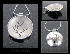 This weeks project was to design and fabricate a sterling silver domed pendant featuring a pierced design. My 'Tree in Winter' pendant features reticulation and is designed to be worn either way. I love reticulation it creates a stunning texture and the element of fear in it's creation adds excitement into fabrication!