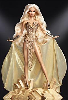 The Blonds Blond Gold Barbie Doll - Designer Barbie Dolls   Barbie Collector