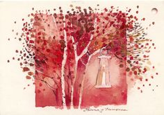 Minna Immonen, Alisa Hamu - Picasa Web Albums Illustrations, Watercolor, Wall Art, Albums, Images, Cards, Trees, Painting, Inspiration