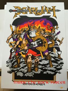 Pearl Jam Ames Bros St Paul Poster & Shirt, Sticker and Button