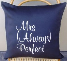 Items similar to Mrs Always Perfect Scatter Cushion Cover on Etsy Scatter Cushions, Throw Pillows, Decoration, Home Projects, Trending Outfits, Cover, Design, Etsy, Decor