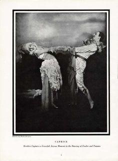 FOWLER and TAMARA Dancers - Pierrot 1925 Magazine Photo by GEORGE KESSLERE