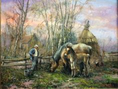 #cap27 Anton Pieck, Farm Art, Horse Art, Country Life, Still Life, Past, Horses, Abstract, Selection
