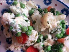 Kalafior zapiekany z warzywami i serem/ Cauliflower baked with cheese