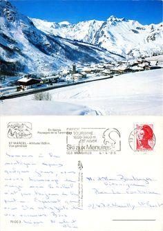 Saint-Marcel - Vue générale - En Savoie - Paysages de la Tarentaise - 1986 (from http://mercipourlacarte.com/picture?/1706/)
