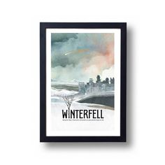 Game of Thrones affiche Poster Winterfell voyage