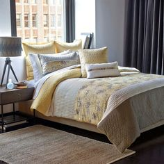 Refresh your master suite or guest room with this lovely comforter set, showcasing a floral-inspired motif for stylish appeal. %0D%0AProd...