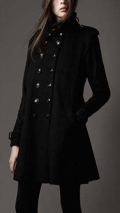 Burberry - FUNNEL NECK MILITARY COAT