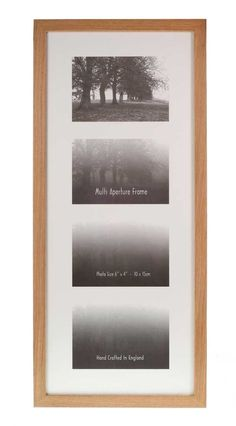 "Multi Aperture Frames to Fit 4 Photo's - Oak - 6"" x 4"": Amazon.co.uk: Kitchen & Home"