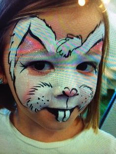 Bunny Face Paint, Face Painting Images, Bath Boms, Animal Faces, Party Entertainment, Best Part Of Me, Caricature, Event Planning, Illusions