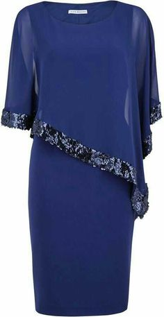 Shop for Crepe dress and sequin chiffon cape by Gina Bacconi at ShopStyle. Now f… Shop for Crepe dress and sequin chiffon cape by Gina Bacconi at ShopStyle. Now for Sold Out. Muslim Fashion, Modest Fashion, Fashion Dresses, Daily Dress Me, Evening Dresses, Formal Dresses, Groom Dress, Crepe Dress, Elegant Outfit