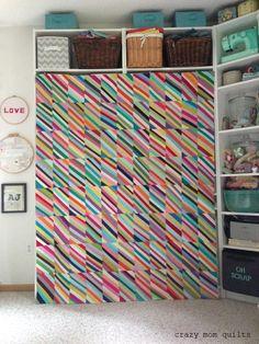 biased quilt top complete