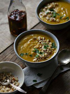 Sopa de Lentilhas e Abóbora, com Azeite Aromatizado - Compassionate Cuisine Blog | Compassionate Cuisine Blog | Cozinha Vegetariana by Marcia Gonçalves