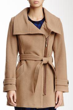 Wool Asymmetrical Zip Coat. Maybe in a Grey or navy.