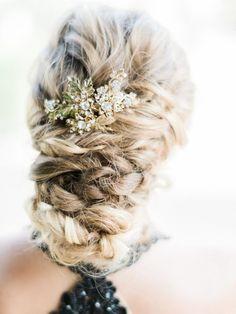 Gorgeous braided udpo via Honey Honey Photography - Deer Pearl Flowers / http://www.deerpearlflowers.com/wedding-hairstyle-inspiration/gorgeous-braided-udpo-via-honey-honey-photography/