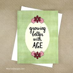 Birthday Card Retirement Gift Better With Age by MissTanDesigns