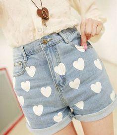 Sweet Love Printed Shorts
