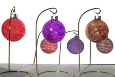 alcohol ink projects with glass ball   Decorative Glass Window Balls in Vibrant Colors by dreamers3