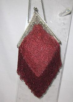 Antique Micro Beaded Purse CA 1900s | eBay