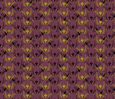 Lilies and Vampire Bats synergy0013 fabric by glimmericks on Spoonflower - custom fabric  - 12 quilting, apparel and upholstery fabrics. Including silks, organic cottons and a linen blend. Non-toxic inks, eco-friendly printing. Swatches $5, 20% off 20+ yards. Instant preview, look before you buy!