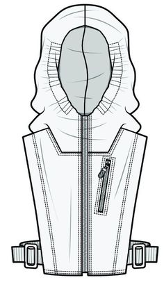 I really like the detail put into this drawing and the use of shade shapes to add volume to the drawing Flat Drawings, Flat Sketches, Technical Drawings, Clothing Sketches, Dress Sketches, Fashion Design Portfolio, Fashion Design Sketches, Fashion Templates, Cyberpunk Fashion