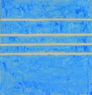 HOMAGE TO GREECE painted by Agnes Martin in 1958. She wanted to recreate the feeling of losing yourself in the sea when you looked into her paintings #art #AgnesMartin #abstractexpressionism #artist #paintings #artists #modernart #contemporaryart #gallery #drawings #artgallery #artwork #HomageToGreece #1958 #blue #Greece #sea #stripes