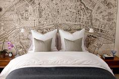 custom-print vintage map of Paris as background