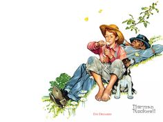 Grandpa and Me Picking Daisies (1958)