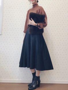 Cute Fashion, Modest Fashion, Skirt Fashion, Hijab Fashion, Trendy Fashion, Korean Fashion, Fashion Dresses, Retro Fashion, Winter Fashion