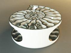 Ammonite - coffee table by Svilen Gamolov, via Behance