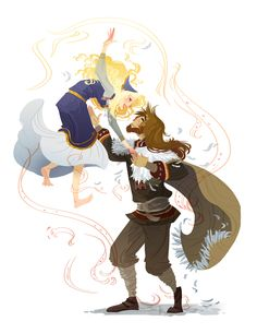 Loki and Sigyn by ~Nafah on deviantART