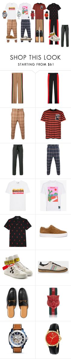 """""""Cosmos"""" by tanoellv on Polyvore featuring Gucci, Alexander McQueen, Vivienne Westwood, Givenchy, Haider Ackermann, Prada, Axel Arigato, Off-White, PS Paul Smith и FOSSIL"""