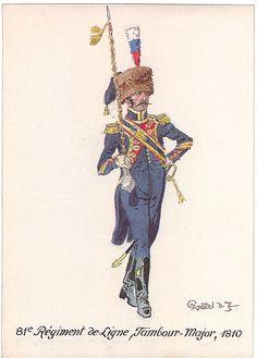 1810 French: 81st Line Infantry, Drum-Major.