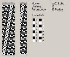 Muitos esquemas para os cordões. Os em P são os mais interessantes.