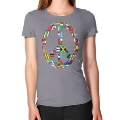 GLOBAL PEACE SIGN ON AMERICAN APPAREL Women's T-Shirt