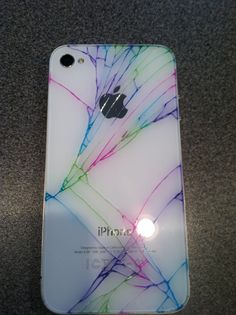 Cracked my phone so I made it better with sharpie