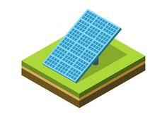 Solar Panel Isometric Vector