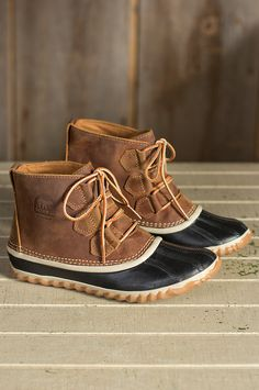 Women's Sorel Out 'N' About Waterproof Leather Ankle Boots by Overland Sheepskin Co. (style 50520)