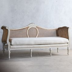 Eloquence One of a Kind Vintage Daybed Louis XVI Gold Cane