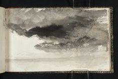 Joseph Mallord William Turner 'Study of Sky', c.1823–4