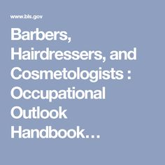 personal care service barbers hairdressers cosmetologists