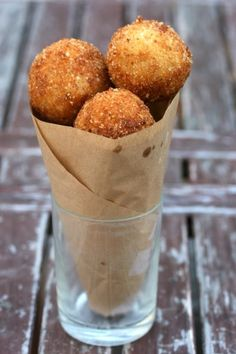 Italy...arancini di riso (risotto balls stuffed with cheese)