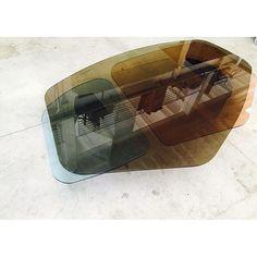 Vincenzo de Cotiis - DC1503 coloured glass coffee table ; Progetto Domestico