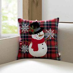 The Holiday Aisle Amorita Snowman Throw Pillow Christmas Applique, Christmas Sewing, Christmas Embroidery, Christmas Crafts, Christmas Decorations, Fall Pillows, Diy Pillows, Throw Pillows, Bolster Pillow