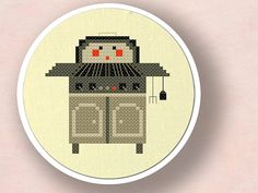 Cute BBQ Stand. Cross Stitch PDF Pattern by andwabisabi on Etsy