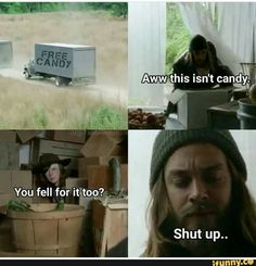 The walking dead funny meme Twd Memes, Memes Humor, Funny Memes, Psych Memes, Hilarious, Funny Facts, Walking Dead Jokes, Fear The Walking Dead, Rick Grimes Walking Dead