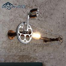 La casa di lampada industriale lampada da parete in ferro loft coffee corridoio parete del tubo retro gear bar Art #LampIndustrielle